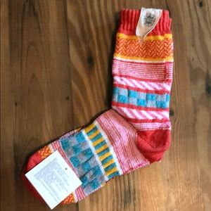 Free People Mismatch Colorful Thick Socks